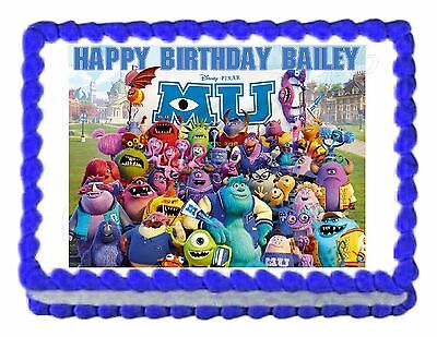 Monsters Inc. Monsters University Edible Cake Image Decoration Party Cake Topper • 6.23£