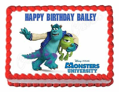 Monsters Inc. Monsters University Edible Cake Decoration Party Cake Topper • 6.23£