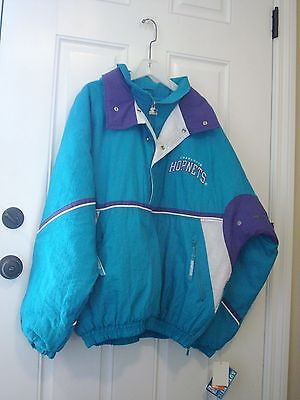 Authentic Starter Vintage NBA Charlotte Hornets NBA Pullover Jacket XL New NWT  • 124.95$