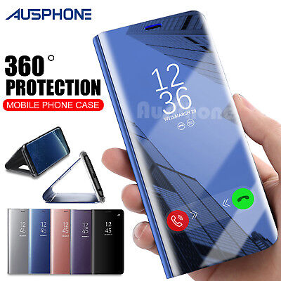 AU7.95 • Buy Galaxy S9 S8 Plus Note 9 S7 A8 J5 J2 Pro J8 Cover Mirror Flip Case For Samsung