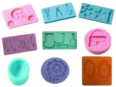 £2.25 • Buy Cake Decorating Moulds/Silicone Plastic Decoration/Toppers Trays Pick Your Shape