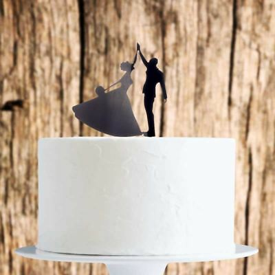 Dancing Couple Cake Topper X1 Baking Pick Decoration Wedding • 1.89£