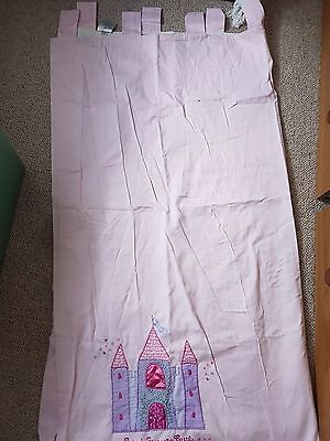 Pink Tab Top Next Lined Curtains  54 Drop. Heavy Lined • 9.99£