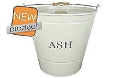 Manor Reproductions Round Cream Metal Ash Bucket With Lid 0349 • 17.99£