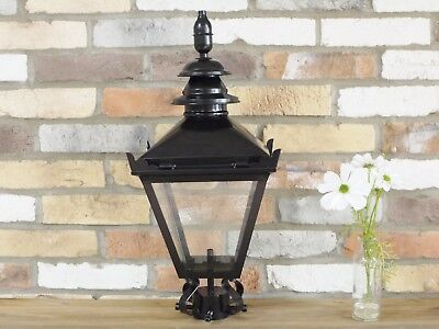 60cm Black Vintage Victorian Garden Street Post Lantern Lamp Top Glass Light • 74.50£