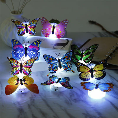 Autism Sensory Lights LED 3D Butterflies Wall Mounted Fairy Lights 10-Pack Toys • 13.99£