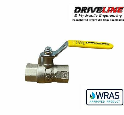 Brass Gas Approved Lever Ball Valve Bspp - Bs En 331 Wras Approved 1/4  -  2  • 4.74£
