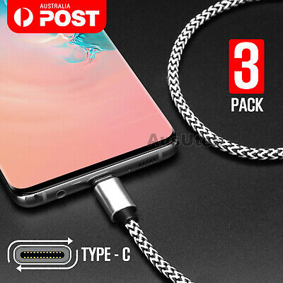 AU6.99 • Buy Type-C Data Sync USB Charger Charging Cable For Samsung Galaxy S8 S9 S10 + Plus
