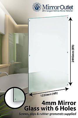 £131.98 • Buy Extra Large Bathroom Gym Mirror Glass With 6 Holes 8ft X 4ft 4mm Thick