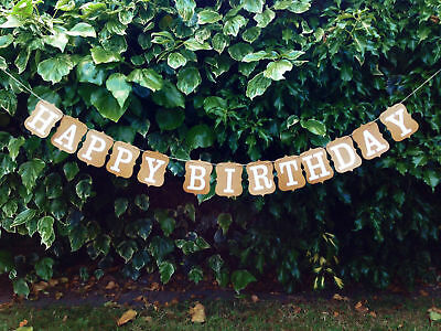 Custom Happy Birthday Bunting Banners Card Photo Prop - Party Venue Decoration • 3.49£