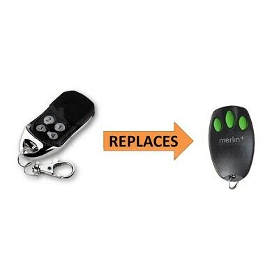 AU10.98 • Buy Merlin+ C945 CM842 C940 C943 Bearclaw Replacement Garage Remote Control Merlin