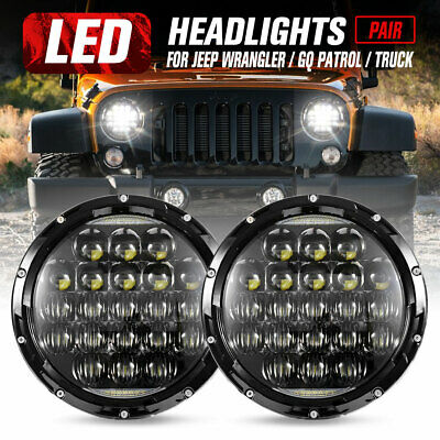 AU89.95 • Buy 2x 7inch LED Headlights Insert Hi-Lo Beam DRL For Jeep Wrangler Patrol GQ Truck