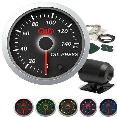 AU56.90 • Buy SAAS Streetline Oil Pressure Gauge 0-140psi 52mm