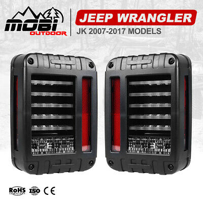 AU89.99 • Buy Pair LED Tail Lights Brake Rear Signal Reverse OEM For Jeep Wrangler JK 07-17