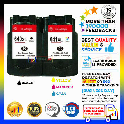 AU35.90 • Buy NoN-OEM Ink PG-640XL CL-641XL PG640 CL641 For Canon Pixma MG2160 MG2260 MG3160