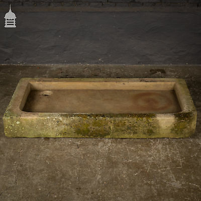 £510 • Buy Sandstone Shallow Trough Sink Planter With Right Hand Return