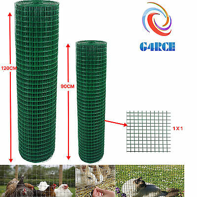 Fencing Mesh Garden Green PVC Coated Galvanised Fence Chicken Wire Aviary Posts • 39.99£