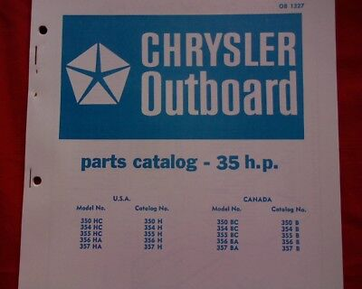AU18.95 • Buy 1970 - 73 Chrysler 35 Hp. Outboard Motor Spare Parts Manual Service Book