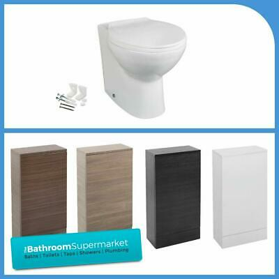 Bathroom Vanity Back To Wall WC Unit BTW Toilet Pan Cistern & Soft Close Seat • 179.95£