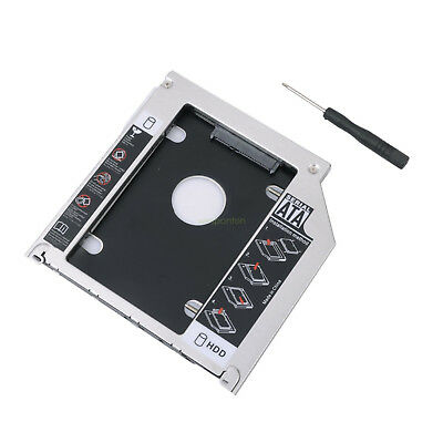 $10.99 • Buy NEW 2ND HDD SSD CADDY SATA 9.5mm Optical Bay For Universal Apple Macbook Pro Wd