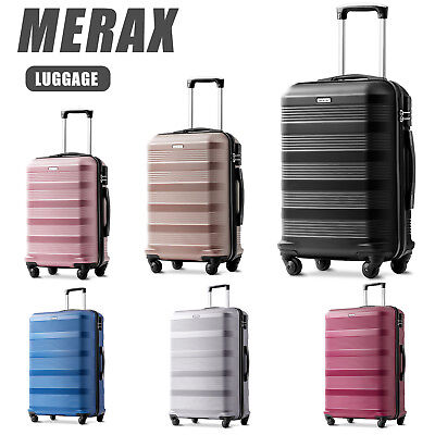 Hard Shell PC+ABS Cabin Suitcase 4 Wheel Travel Luggage Trolley Lightweight Case • 19.99£
