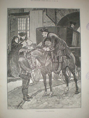 A Recognition R Caton Woodville 1892 Old Print • 8.99£