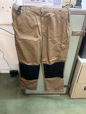 Scruffs Work Trade Trousers Pants Brown Men's Multi Knee Pad Pocket 40/32 • 6.95£