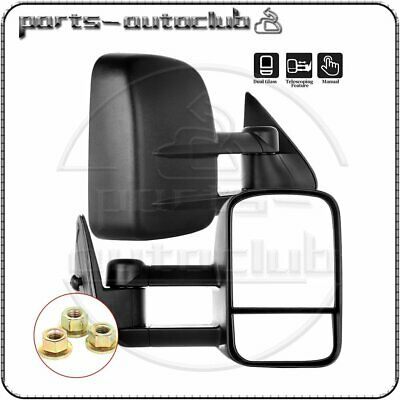 $67.18 • Buy Tow For 1999 2000 2001 2002 2003-2007 Chevy GMC Manual Extend Side View Mirrors