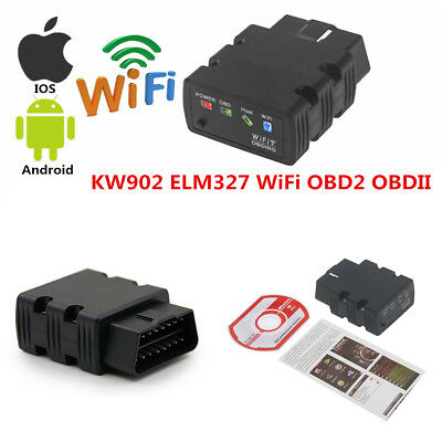 AU28.40 • Buy ELM327 KW902 ODB2 OBDII WiFi Car Code Reader Diagnostic Scanner For IOS &Android