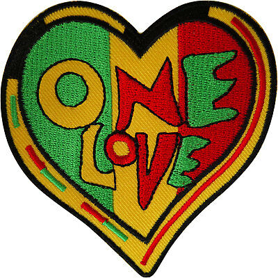 Rasta Heart Patch Iron Sew On Reggae Music Embroidered Badge Embroidery Applique • 2.79£