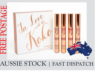 AU34.95 • Buy Kylie Jenner In Love With KoKo Lipstick Set With Retail Package (4PCS) FREE POST