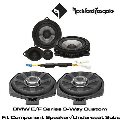 Rockford BMW E/F Series 3-Way Custom Fit Component Speaker/Underseat Subs  • 799£