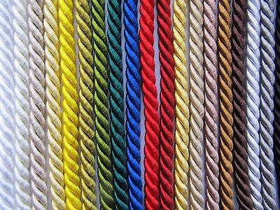 5mm SILKY FURNISHING CORD Quality Cotton/Viscose Piping Cushions & Upholstery • 1.25£