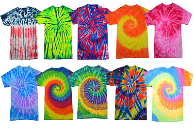 $12.98 • Buy Tie Dye Style T-Shirts For Men And Women - Fun, Multi Color Tops By Krazy Tees