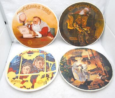 $ CDN39.74 • Buy Lot Of 4 Vintage Norman Rockwell Christmas 8  Decorative Plates