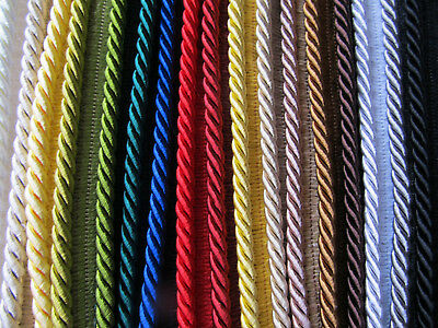 5mm SILKY FLANGED FURNISHING CORD High Quality Piping For Cushions & Upholstery • 1.75£