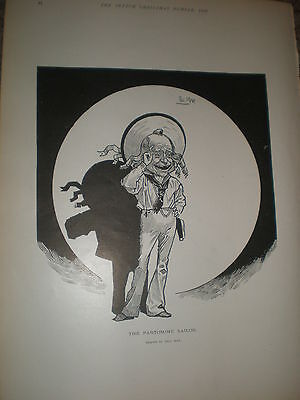 The Pantomime Sailor Phil May Old Print 1902 Ref Z • 9.99£