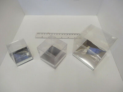 £4.50 • Buy Presentation Box Clear Cup Cake Box Favour Box Acetate Box With Silver Base 5cm