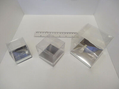 £5 • Buy Presentation Box Clear Cup Cake Box Favour Box Acetate Box With Silver Base 6cm