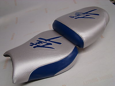 $99 • Buy Hayabusa 99/00/01/02/03/04/05/06/07 Gsxr1300 Silver&blue Front&rear Seat Covers