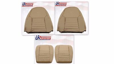 $591.03 • Buy 1999 To 2004 Ford Mustang GT Driver & Passenger Bottom & Top Leather Covers TAN
