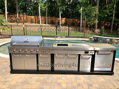 $4249.15 • Buy Ultimate Outdoor Kitchen W/ GRILL, SINK, REFRIGERATOR, GRANITE + More!