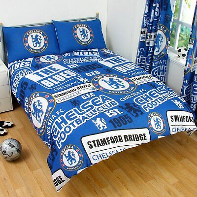 £23.95 • Buy Official CHELSEA Football Club Double Duvet Quilt Cover Set Boys Kids Blue Bed