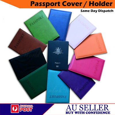 AU4.45 • Buy Brand New Passport Cover Holder Protector Case Wallet Organizer PU Leather - AU