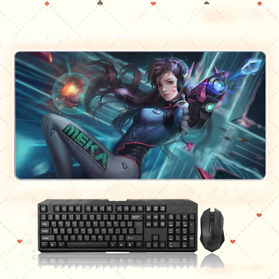 AU33.49 • Buy GAME Overwatch D.va Extra Large Mouse Pad Free Shipping(32'' * 16'')