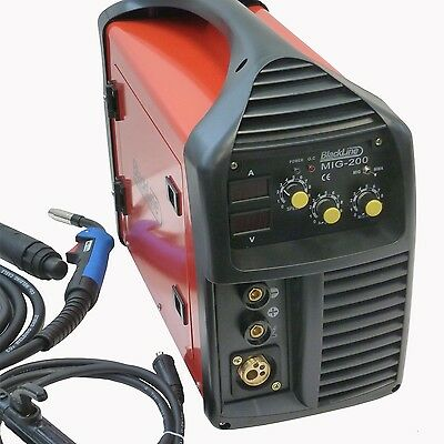 200 Amp MIG IGBT Welder, Gas/Gasless, Best Seller On EBay, 240v. Blackline Tools • 233.38£