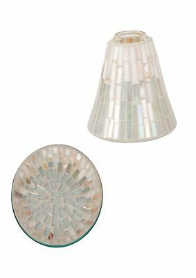 Cello Jar Candle Shade & Plate Gift Set Will Fit Yankee Or Village Candles • 19.95£