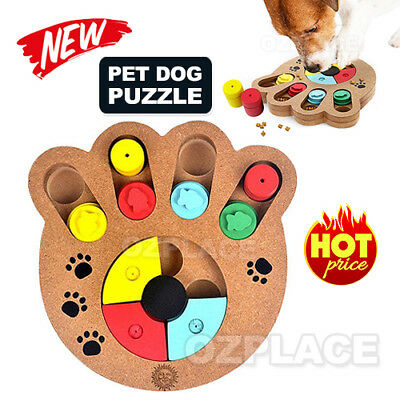 AU22.85 • Buy Dog Interactive Puzzle Toys Dog IQ Training Game Puppy Treat Dispenser Wooden
