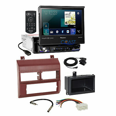 $499.95 • Buy Pioneer Flip Out Touchscreen Radio Burgundy Dash Kit Harness For 88+ Chevy GMC
