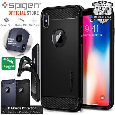 AU29.99 • Buy [FREE EXPRESS] IPhone X Case, Spigen Rugged Armor Soft Cover For Apple